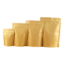 8 OZ Kraft Stand-Up Pouches, Foil Lined with Zipper Lock - Pack of 50, FDA Compliant