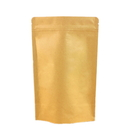 50 PCS Kraft Stand-Up Pouch Foil Lined with Zipper, (1 oz to 16 oz), FDA Compliant