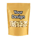 Custom Natural Kraft Stand-up Zip Pouch with Window, ( 1 OZ to 16 OZ ), 5.5 mil - 1 Color Printing