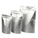 2 oz Stand Up Pouches with Zipper- Silver, Pack of 50, FDA Compliant