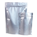 50 PCS 4 OZ Stand Up Pouch with Zipper- Silver, FDA Compliant