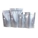 50 PCS 12 oz Silver Ziplock Stand Up Bags, Mylar Ziplock Pouch, FDA Compliant