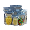 50 PCS 6 oz Silver Back Zip Lock Stand Up Pouch - 6