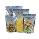 50 PCS 8 oz Reusable Stand Up Food Pouches Bags w/Notch, 6.75