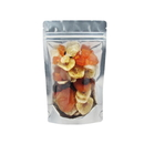 50 PCS 16 oz Silver Back Stand-Up Barrier Pouches - Excellent presentation for your finest nuts and sweets
