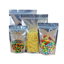 50 PCS 24 oz Silver Back Stand-Up Barrier Pouches, 8.25