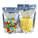 50 PCS 4 LB Reusable Aluminium Foil Zip Lock Stand Up Food Pouches Bags, 11.75