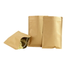 50 PCS Foil lined Kraft Flat Pouch w/ Zipper, FDA Compliant, (2.5 OZ to 18 OZ)