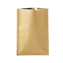 100 PCS Kraft Foil Flat Pouch, 4 OZ to 16 OZ, FDA Compliant