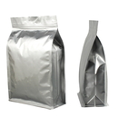 50 PCS 24 oz Silver Flat Bottom Gusset Bag with Zipper, 6 1/4
