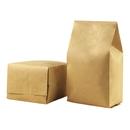 50 PCS Kraft Side Gusset Bag, (1 OZ to 16 OZ), FDA Compliant