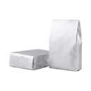 50 PCS Silver Flat Bottom Gusset Bag, (1 OZ to 8 OZ), FDA Compliant