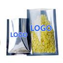Custom Clear / Silver Flat Pouch Bags, FDA Compliant, (0.125 OZ to 22 OZ)