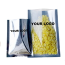 Custom Clear / Silver Flat Pouch Bags, FDA Compliant, (0.125 OZ to 22 OZ)
