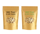 Custom Kraft Stand-Up Pouch with Clear Oval Window and Ziplock, ( 2 OZ to 16 OZ ), FDA Compliant
