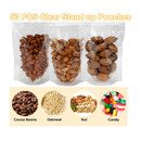 (Price/50 PCS) 15 OZ Clear Stand up Drink Pouches, 3 Mil, 5