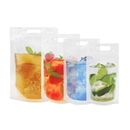 50 PCS Reclosable Zipper Clear Stand up Drink Pouches Bags w/Handle, FDA Compliant