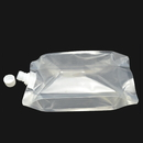 (Price/50 PCS) Clear Spouted Side Gusseted Bag, Good for Juice, Jam, Milk Packaging, 27 Fluid Ounces, 5mil, 15mm Spout, FDA Compliant, BPA Free