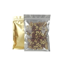 100 PCS Gold/Frosted Flat Pouch w/Zip Closure (2 - 27oz), 3 mil