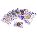 100 PCS Re-sealable Clear Flat Pouch w/Clear Window (1.5-24 oz), 3 Mil, Purple Flower Patern
