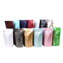 (Price/50 PCS) 8 OZ Coffee Bags With Degassing Valve And Ziplock, FDA Compliant, Promotional Products, Price/50 - Coffee