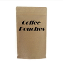 Custom Kraft Coffee Bags, Stand up Pouches with Degassing Valve and Ziplock