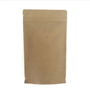 (Price/50 PCS) 8 oz Kraft Coffee Bags with Degassing Valve and Ziplock, FDA Compliant