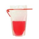 50 PCS Aspire Resealable Heavy Duty Translucent Frosted Stand Up Juice Pouches With Ziplock, Drink Pouche, Hand-Held, 8 Mil