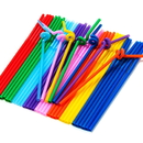 (Price/50 PCS) Wholesale Assorted Flexible Drinking Straws for Juice & Wine, 10.2