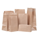 (Price/50 PCS) Aspire Greaseproof Paper bags, Side Gusseted Pouches, Great for Donuts, Dessert Package