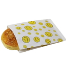(Price/100 PCS) Aspire Smile Pattern Wax Paper Flat Bags, Greaseproof Paper Bags, Paper Sandwich Bags