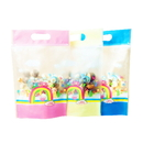 (Price/50 PCS)Aspire 8 OZ Rainbow Translucent Stand up Bags with Ziplock, Good for Candy, Biscuit
