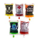 (Price/20 PCS) Aspire  (5 OZ, 8 OZ) Spouted Blood Bags For Juice, Liquid Bag & Drink Container For Halloween Part