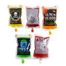 (Price/20 PCS) Aspire  (5 OZ, 8 OZ) Spouted Blood Bags For Juice, Liquid Bag & Drink Container For Halloween Party