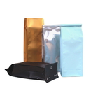 Custom 8 OZ Flat Bottom Gusset Bags, Coffee Bags with Degassing Valve and Tin Ties, FDA Compliant