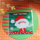 (Price/100 PCS) Aspire Christmas Treat Bags, Santa Cellophane Bag Self Adhesive Bakery Bags, for DIY Candy, Biscuit Christmas Gift