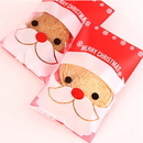 (Price/100 PCS) Aspire Self Adhesive Cookies Bags, Christmas Treat Bags, Santa Cellophane Bag