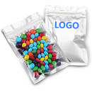 Custom Mylar Bags w/Zip Sealable Heat Seal Bags for Candy and Food Packaging, 4 Mil, FDA Compliant,  0.5 OZ to 2 LB