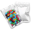 50 PCS Mylar Bags w/Zip Sealable Heat Seal Bags for Candy and Food Packaging, Medications and Vitamins