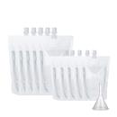10 PCS Cruise Liquor Bags, Heavy Duty Reusable Flask with Funnel, 6 mil, 8.2mm Spout, FDA Compliant, BPA Free