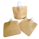 50 PCS 1 OZ Kraft Spout Pouch, Drink Pouches Good for Sample Packaging, 16mm Spout, FDA Compliant, BPA Free