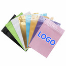 Custom One Color Silk Printing Foil Flat Pouch with Zip Closure, 1.5 OZ, 2 OZ