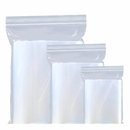 (Price/100 PCS) Clear Reclosable Plastic LDPE Zipper Bags, 2mil