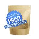 Digital Printing Custom Kraft Pouch Bags, 6 mil, Low Minimum
