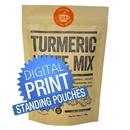 Digital Printing Custom Kraft Stand Up Pouch Bags, Digital Printing Custom Coffee Pouch Bags, 4.7mil, Low Minimum