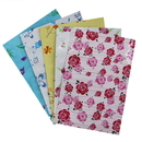 100 PCS Heat Sealable Metalized Flower Pattern Foil Pouch, Disposable 3-Sided Sealed Pouch Bags for Personal Care Item
