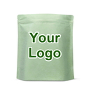 Custom Eco-Friendly Compostable Rice Paper Stand Up Pouch with Ziplock, 5 mil