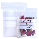 (Price/100 PCS) Aspire Resealable 3 mil Writable White Block Zip Bags, Plastic Small Clear Poly Zip Storage Bags