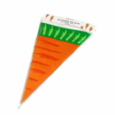 50 PCS Aspire Carrot Cone Shaped Treat Bags with Twist Ties, 5