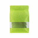 (Price/ 50 PCS) Aspire Eco-Friendly Rice Paper Side Gusseted Pouch Bags with Ziplock, (8 OZ, 12 OZ, 16 OZ, 2LB), 5 mil